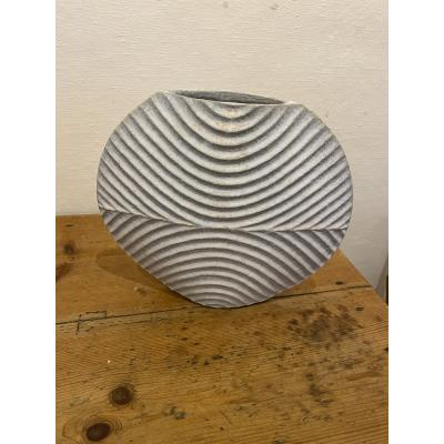 Carved Disc Vessel-Divided (Horizontal)