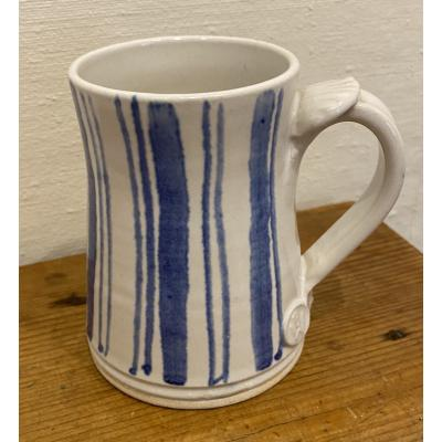 Blue Stripe Mugs