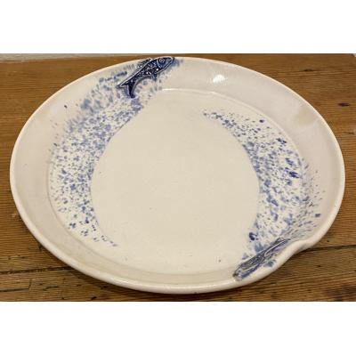 Plate Seaspray Leaping Fish