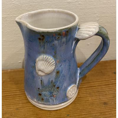 Blue Cream Jug