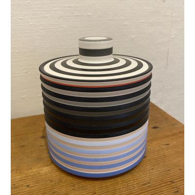 Lidded Box With Blue