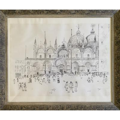 Piazza San Marco - Pen Drawing