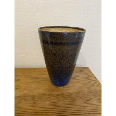 Medium Blue Grey V Shaped Vessel