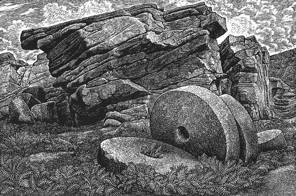 Abstracted Millstones At Stanage
